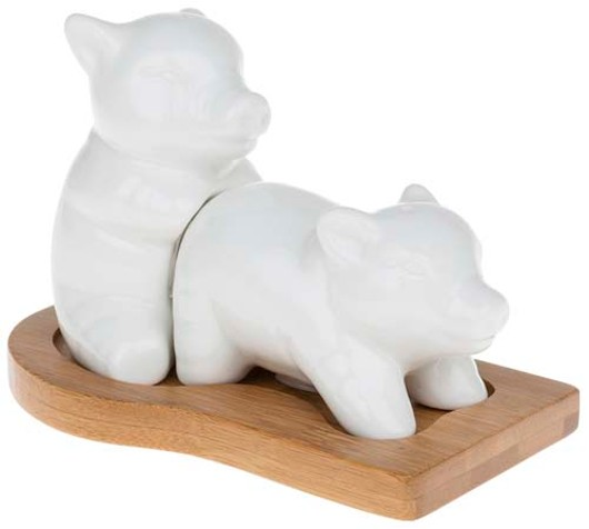 White Bamboo Makin Bacon Cruet 50554