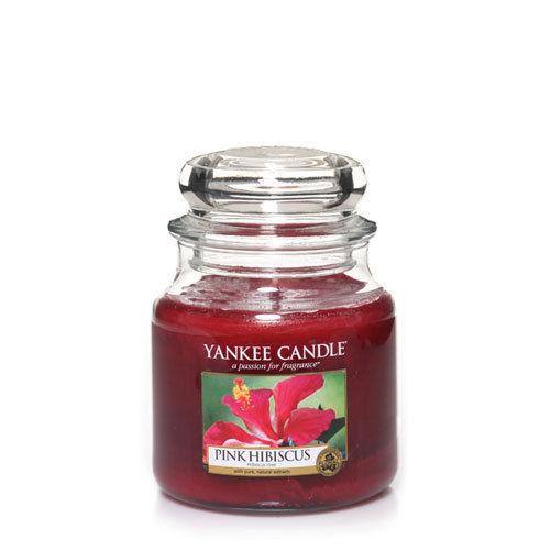 Yankee Pink Hibiscus Medium Jar