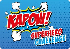 Hospice of the Valleys KAPOW Superhero Challenge 2019