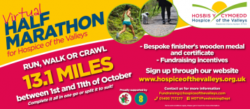 Hospice of the Valleys Virtual Half Marathon 2020