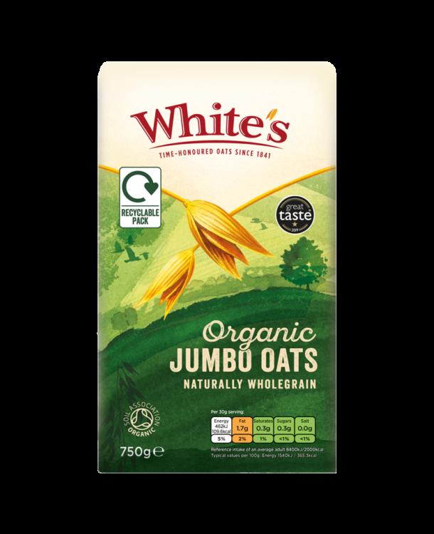 Whites Jumbo Organic Oats New