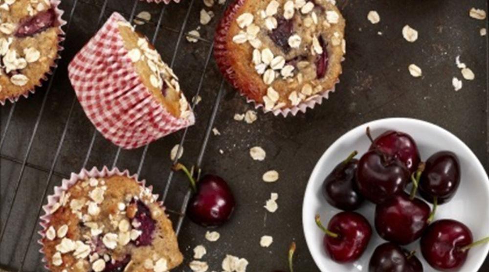 Cherry Yoghurt Oat Muffins Whites Oats