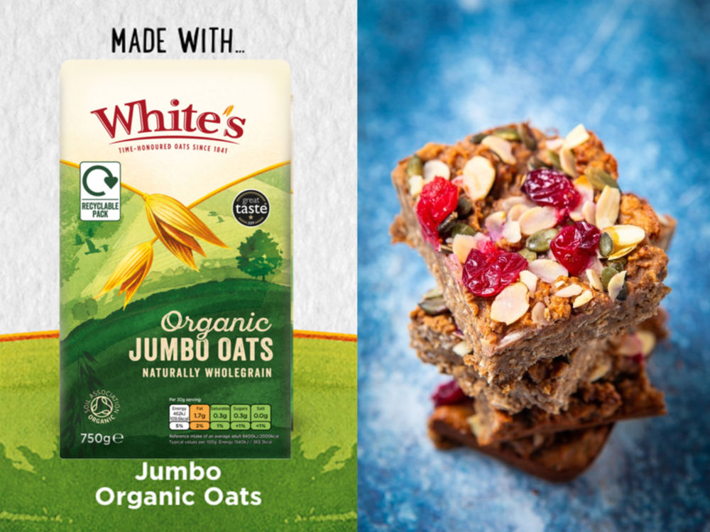 Vegan Protein Oat Flapjacks Made With Whites Oats New