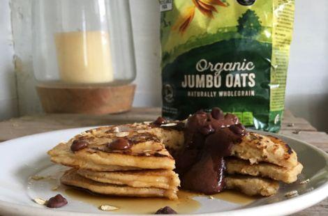 Jumbo Oat Pancakes