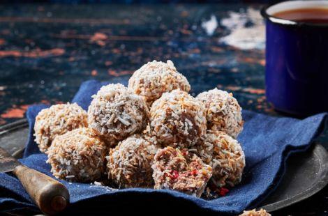 Lemon Raspberry And Coconut Balls