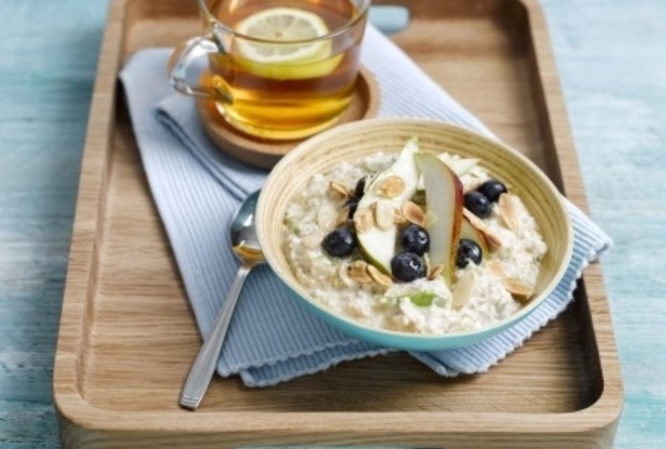 Overnight Pear Blueberry Oats