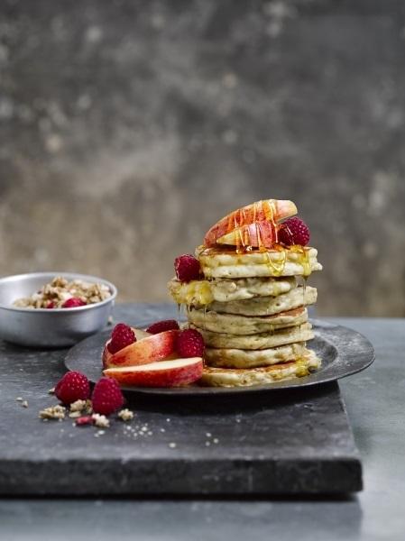 Crunchy Apple Cin Pancakes