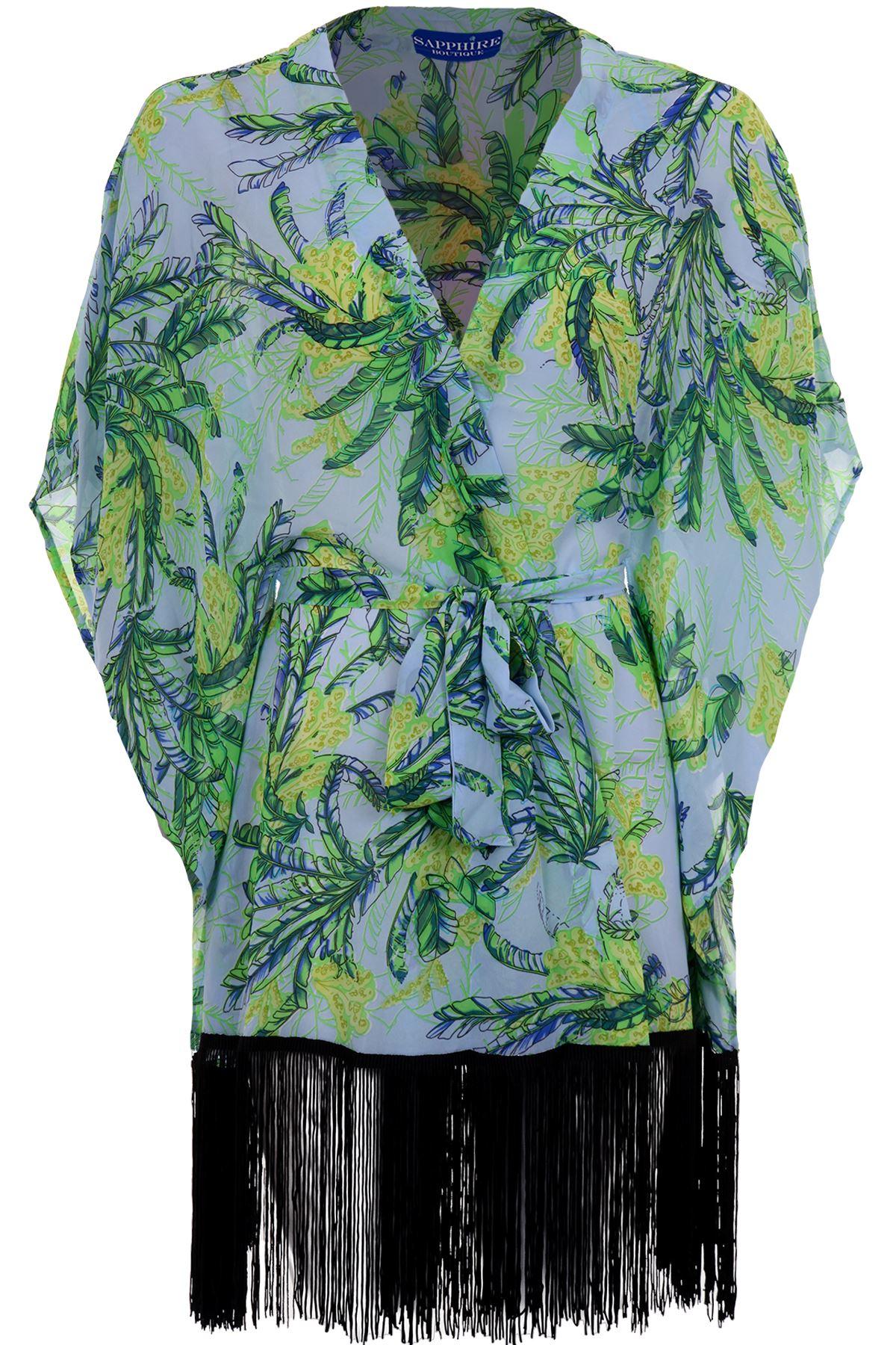 Damen fledermaus rmel kurz rmlig blumen chiffon damen mit - Kimono jacke damen ...