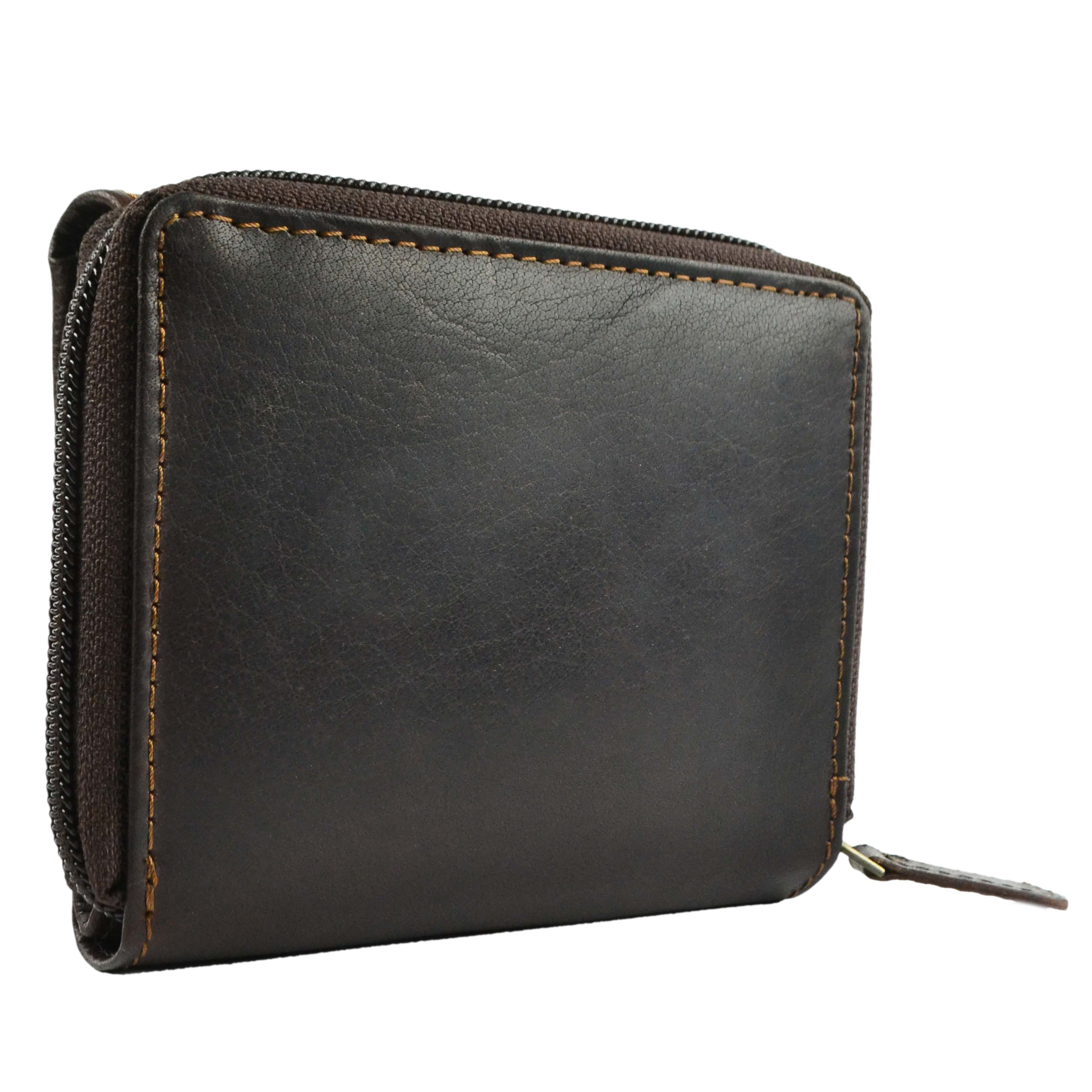 NEW Compact Ladies Leather Flap Over Purse//Wallet by Bolla Bags Gift Boxed Handy