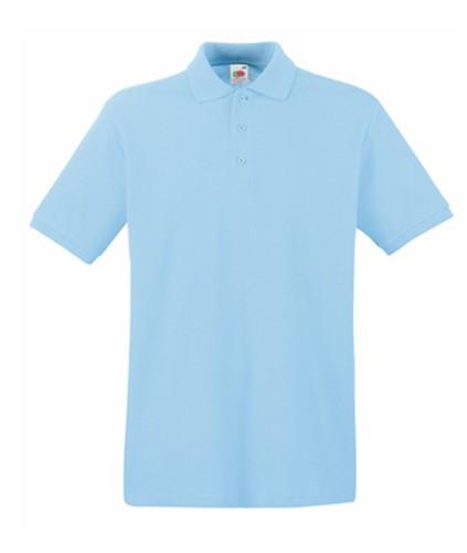 FRUIT-OF-THE-LOOM-hombre-POLO-PREMIUM-manga-corta-100-ALGODoN-camisa