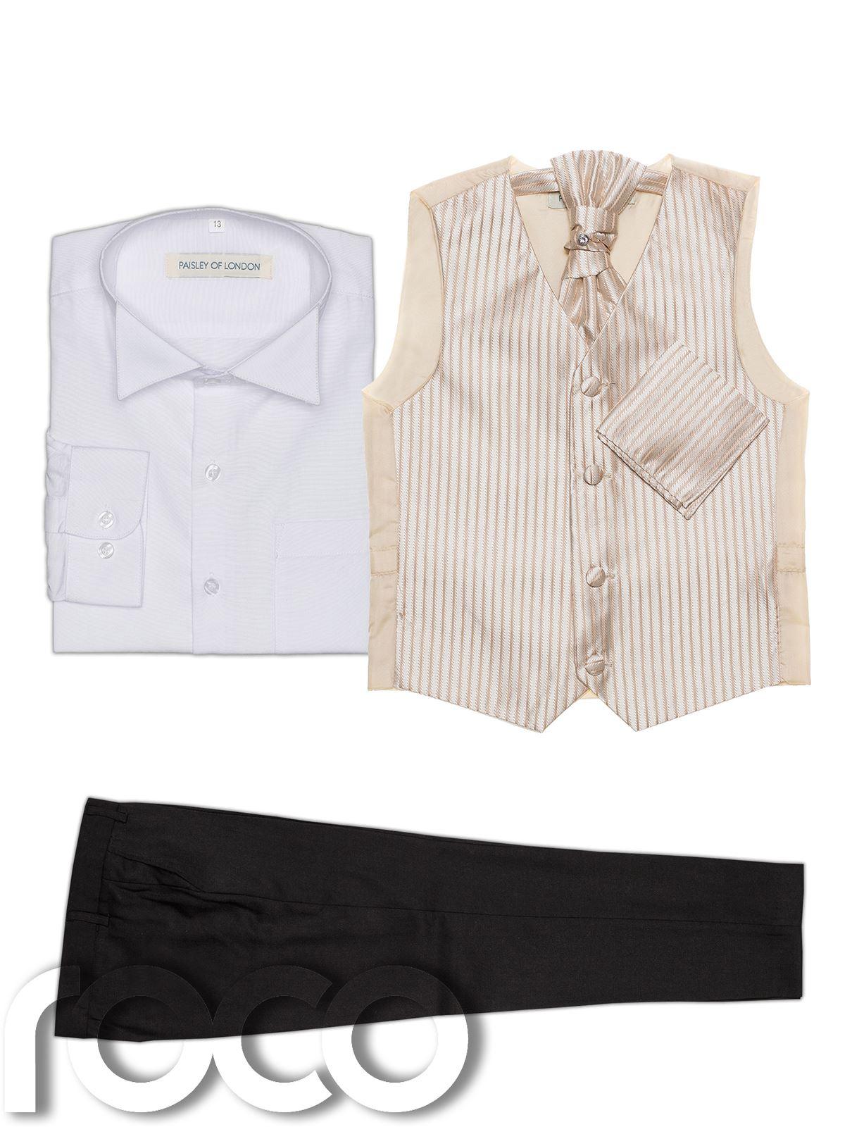 Costume-Bebe-garcon-gilet-PAGE-pour-noir-pantalon-a-rayures-motif