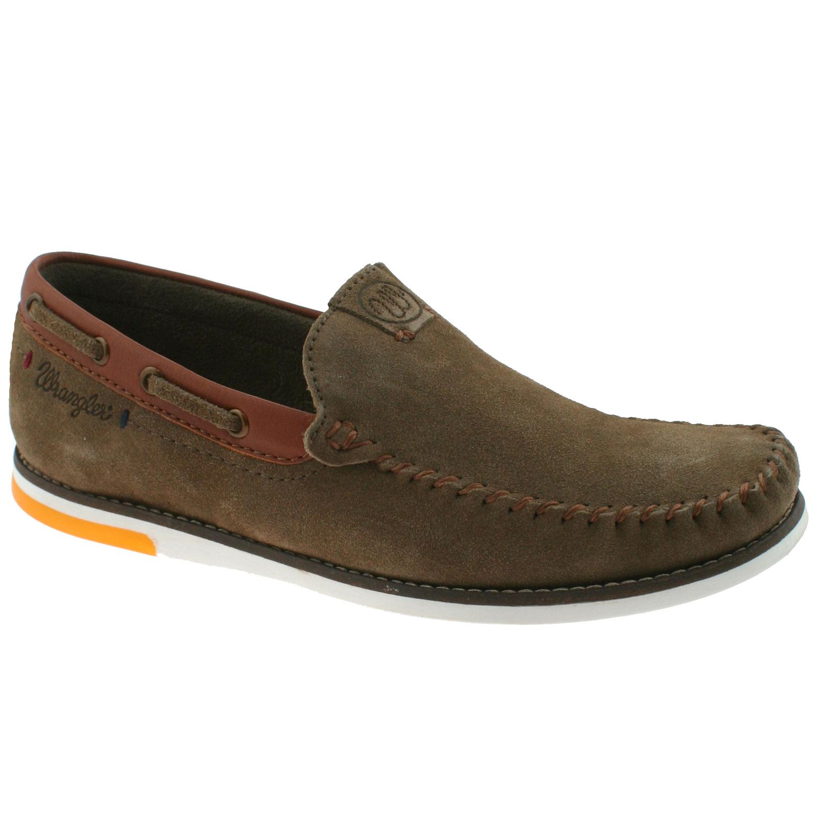 Wrangler Herren Foam Sharky Nubuk Leder Memory Foam Herren Slipper Halbschuhe Schuhe 163f7d
