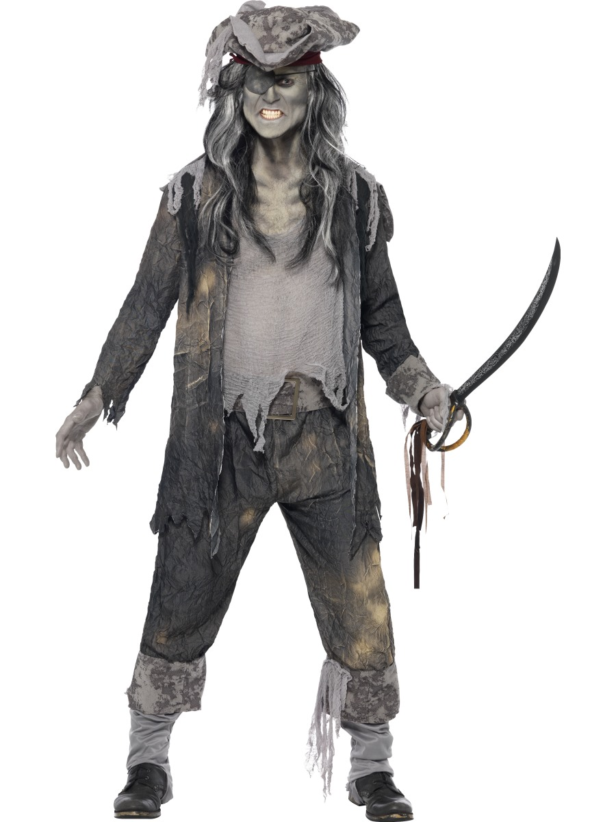 Adult Male Ghost Ship Ghoul Halloween Smiffys Fancy Dress Costume ...