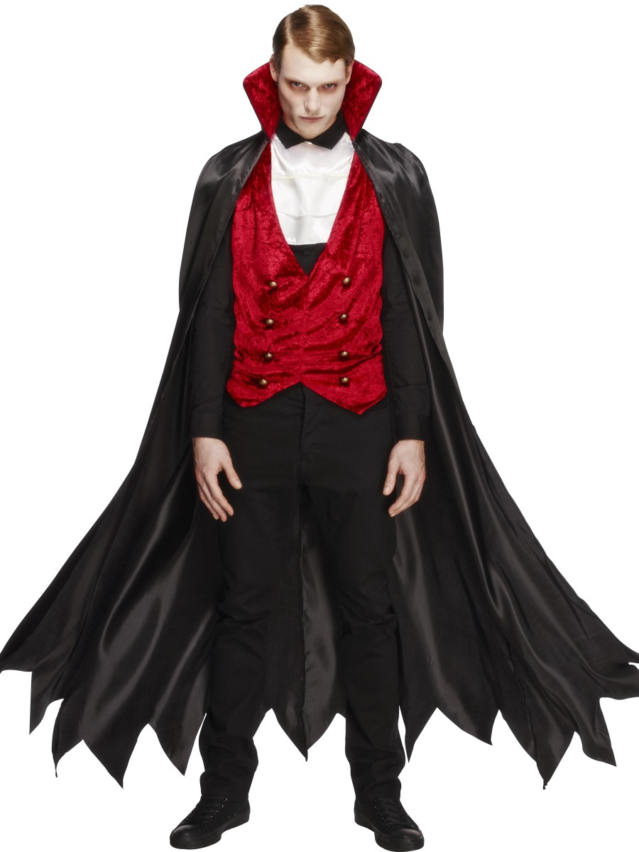 Details about Vampire Mens Deluxe Halloween Fancy Dress Costume ...