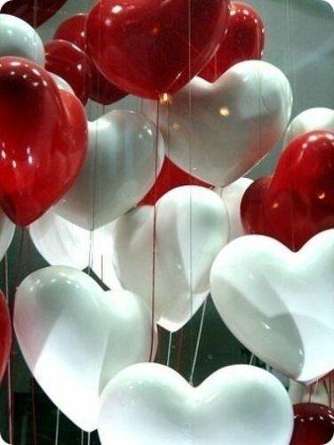10-100-pieces-forme-coeur-blanc-couleur-rouge-ballons-AIR-Helium-ST-VALENTIN