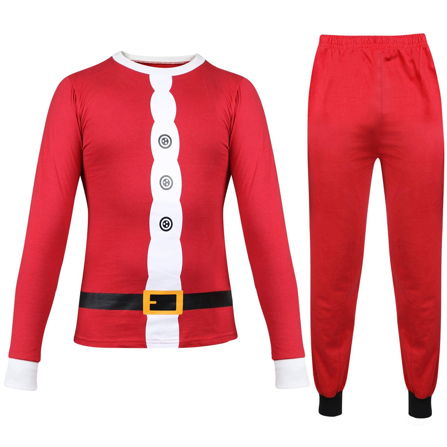 8b96efe94d58e Enfants Filles Garçons PYJAMAS Père Noël Noël Pyjama Noël Pyjama Âge ...