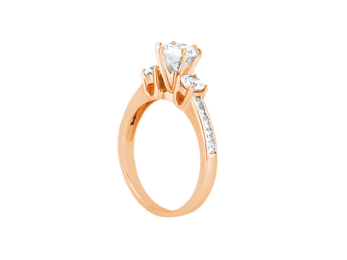1-10-Quilates-Redondo-Princesa-Anillo-de-Compromiso-Diamante-Corte-10-Oro-Kl-I1 miniatura 5
