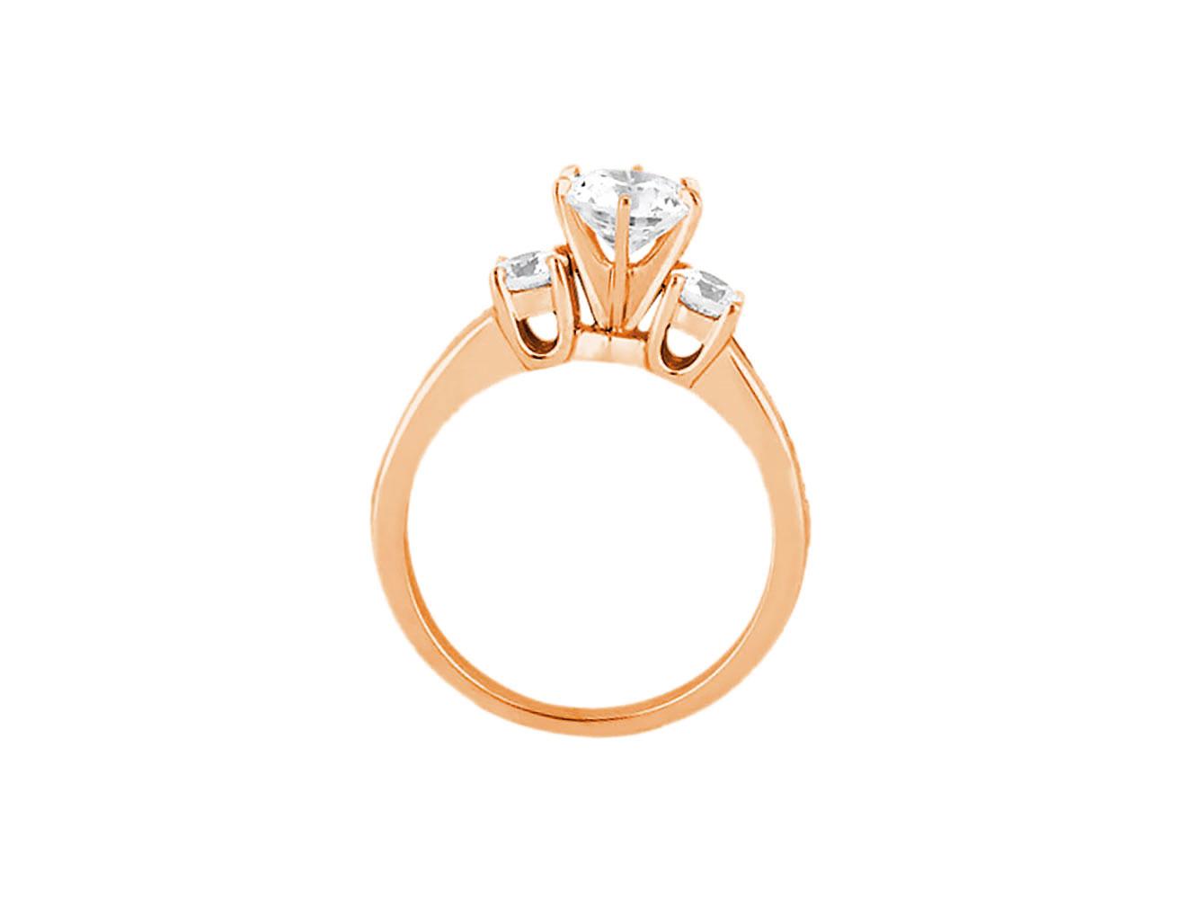 1-10-Quilates-Redondo-Princesa-Anillo-de-Compromiso-Diamante-Corte-10-Oro-Kl-I1 miniatura 6
