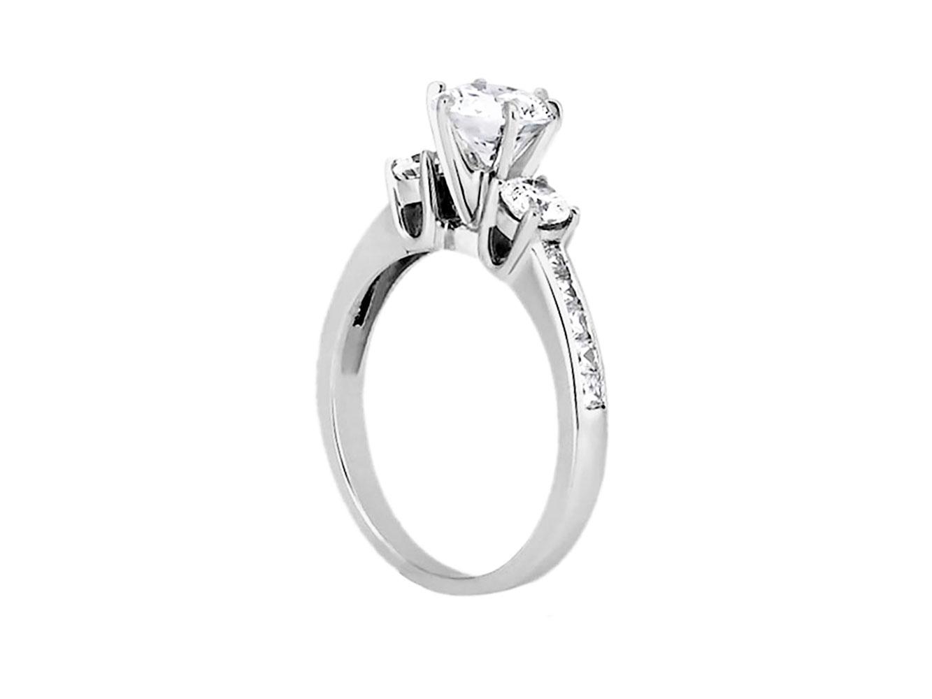 1-10-Quilates-Redondo-Princesa-Anillo-de-Compromiso-Diamante-Corte-10-Oro-Kl-I1 miniatura 8