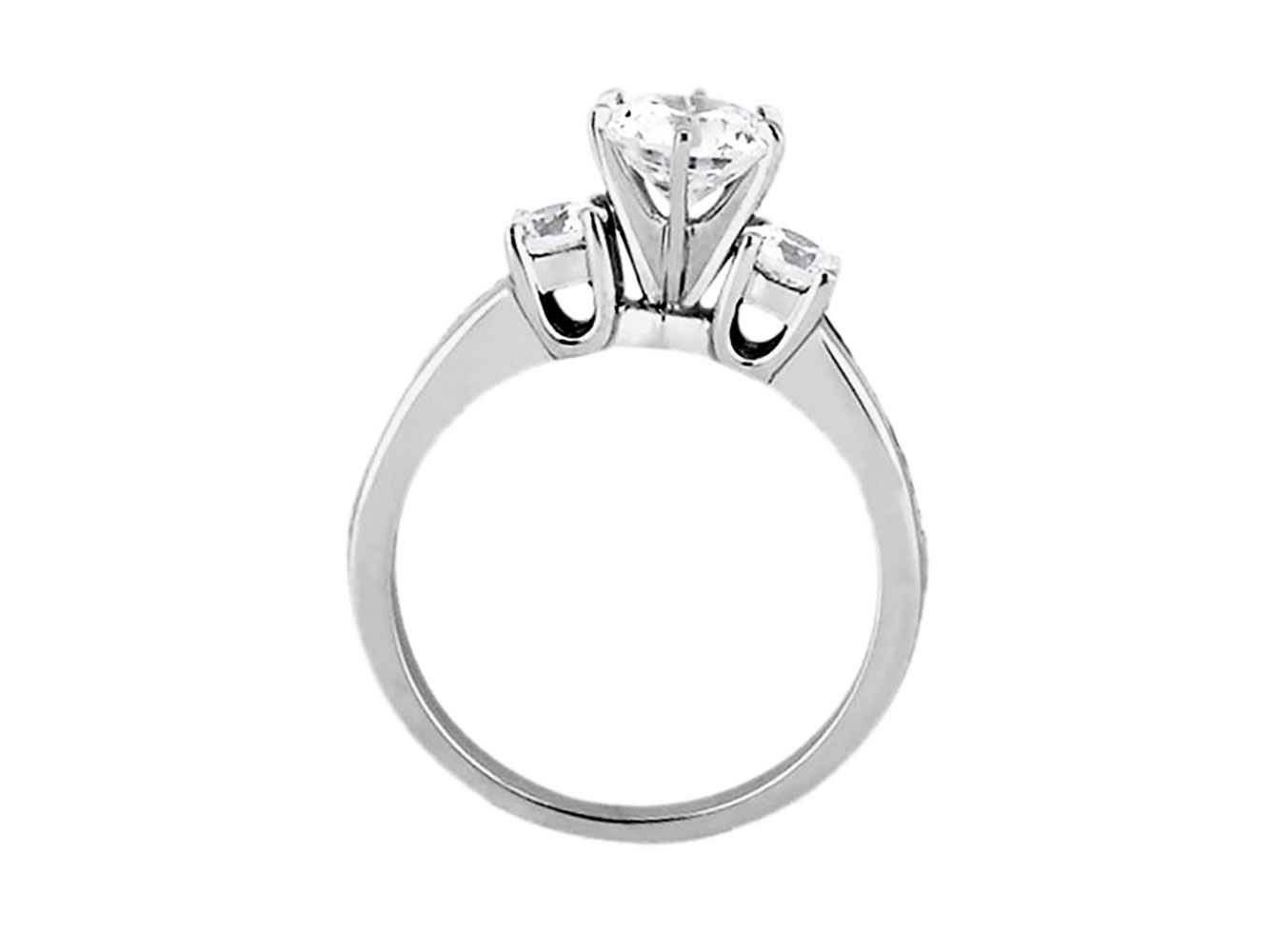 1-10-Quilates-Redondo-Princesa-Anillo-de-Compromiso-Diamante-Corte-10-Oro-Kl-I1 miniatura 9