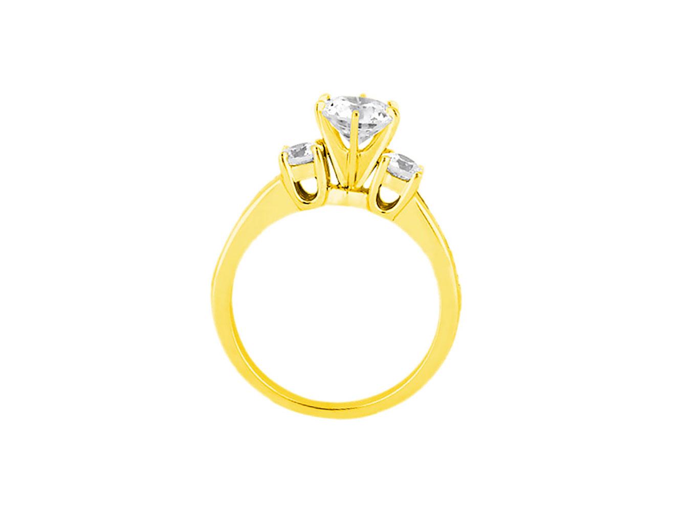 1-10-Quilates-Redondo-Princesa-Anillo-de-Compromiso-Diamante-Corte-10-Oro-Kl-I1 miniatura 12