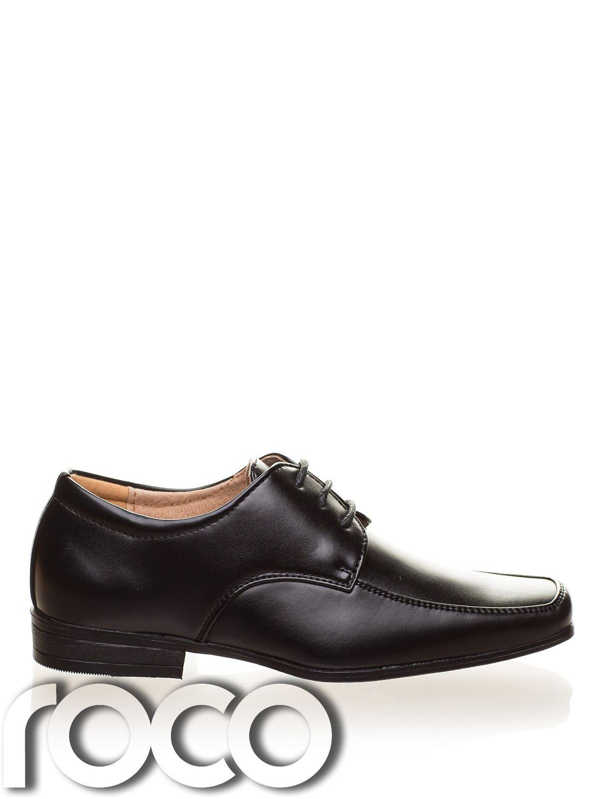 Jungen schwarz Schuhe, brauner Ball Seite förmliche Schuhe