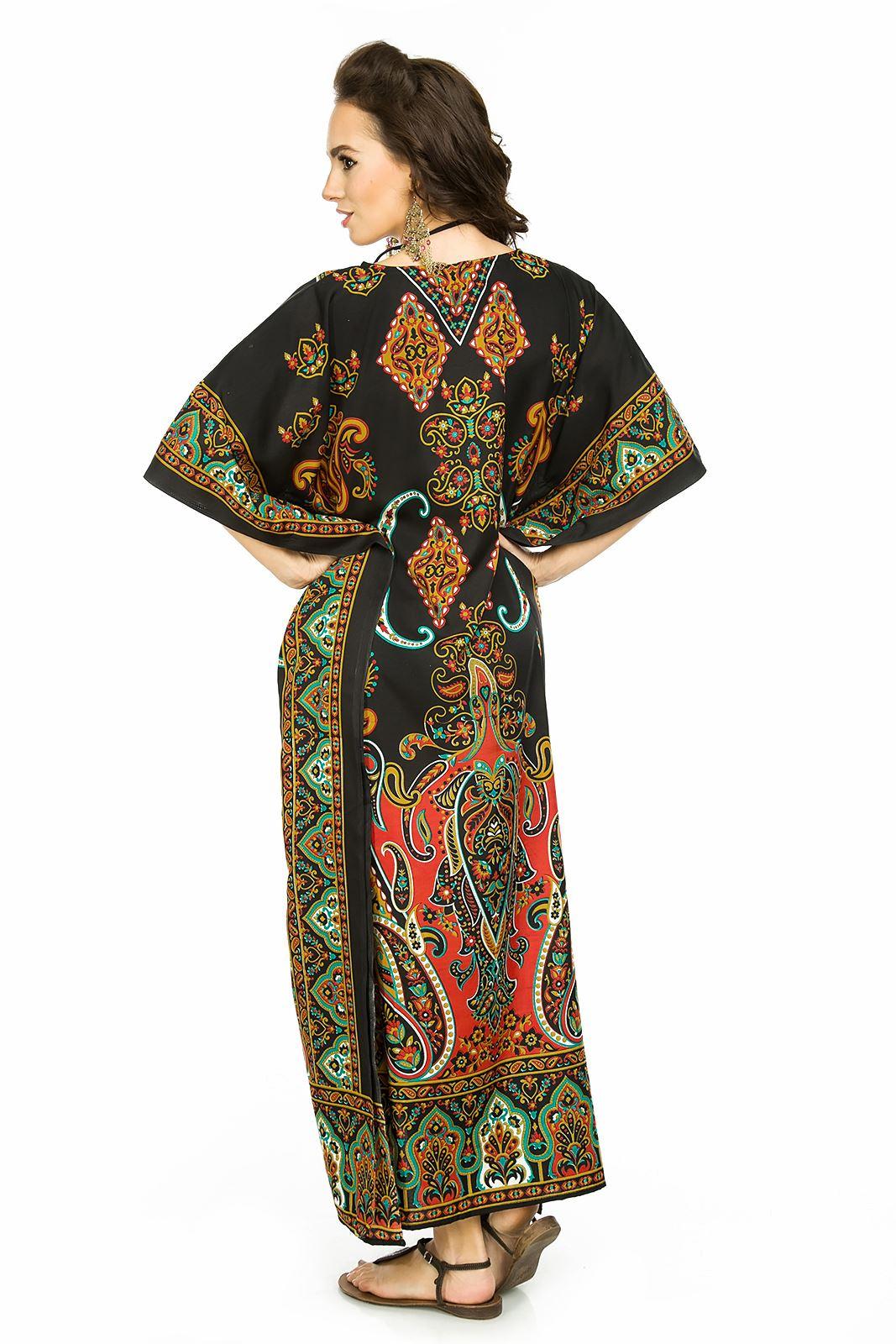 Oversize Maxi Kimono Kaftan Tunica Abito Caftano Taglia Unica Nuovo Da Donna