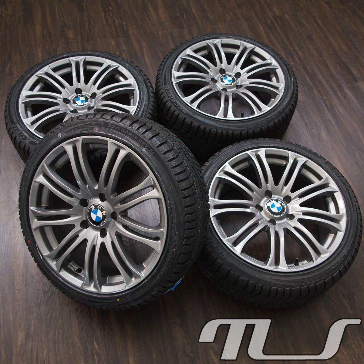 18 winter wheels bmw e90 e91 e92 e93 f30 f31 3 series 5 f10 x1 x3 tyres ebay. Black Bedroom Furniture Sets. Home Design Ideas