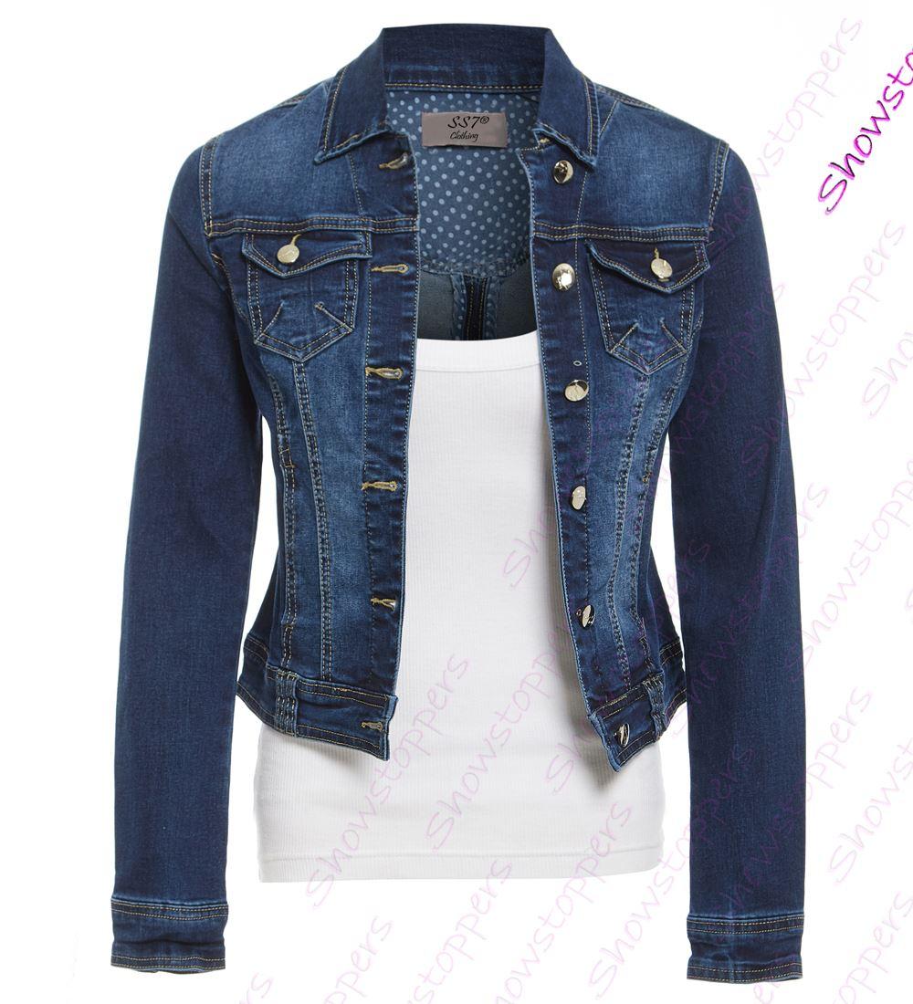 10 GIACCA 8 DI giubbotti da INDACO DONNA Jeans taglia elasticizzato RfPq7nzw