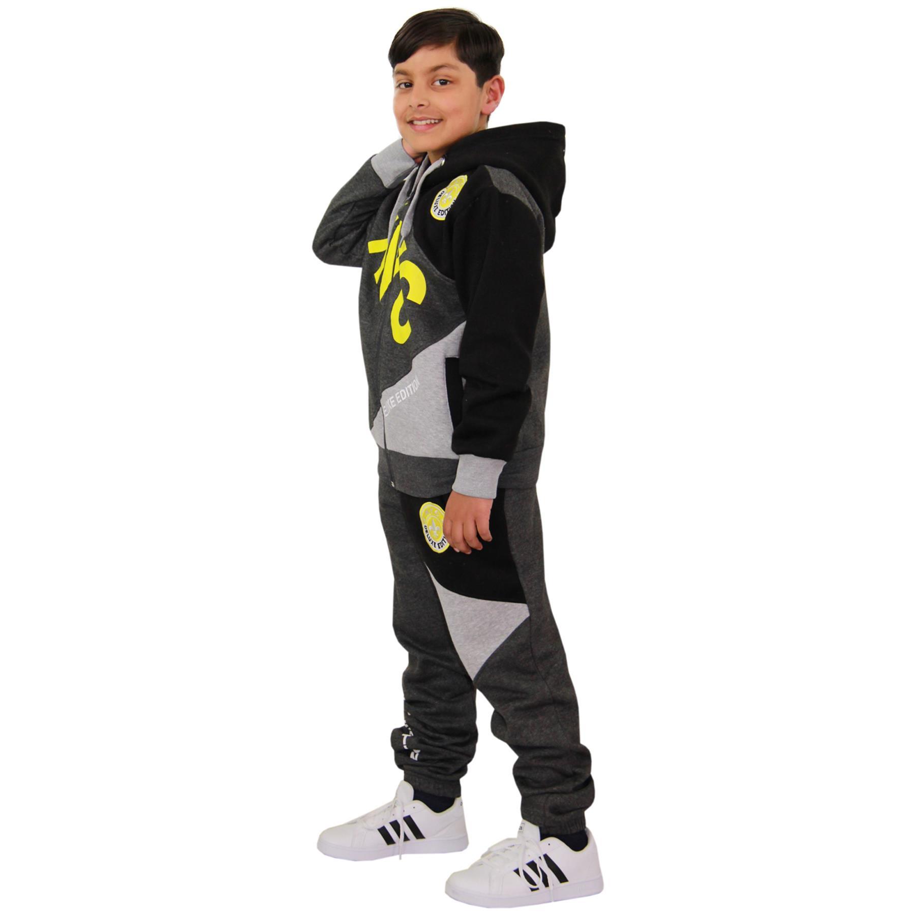 a2z4kids Kids Boys Tracksuit NYC DLX Project Print Hoodie /& Bottom Jog Suit Age 7-13 Year
