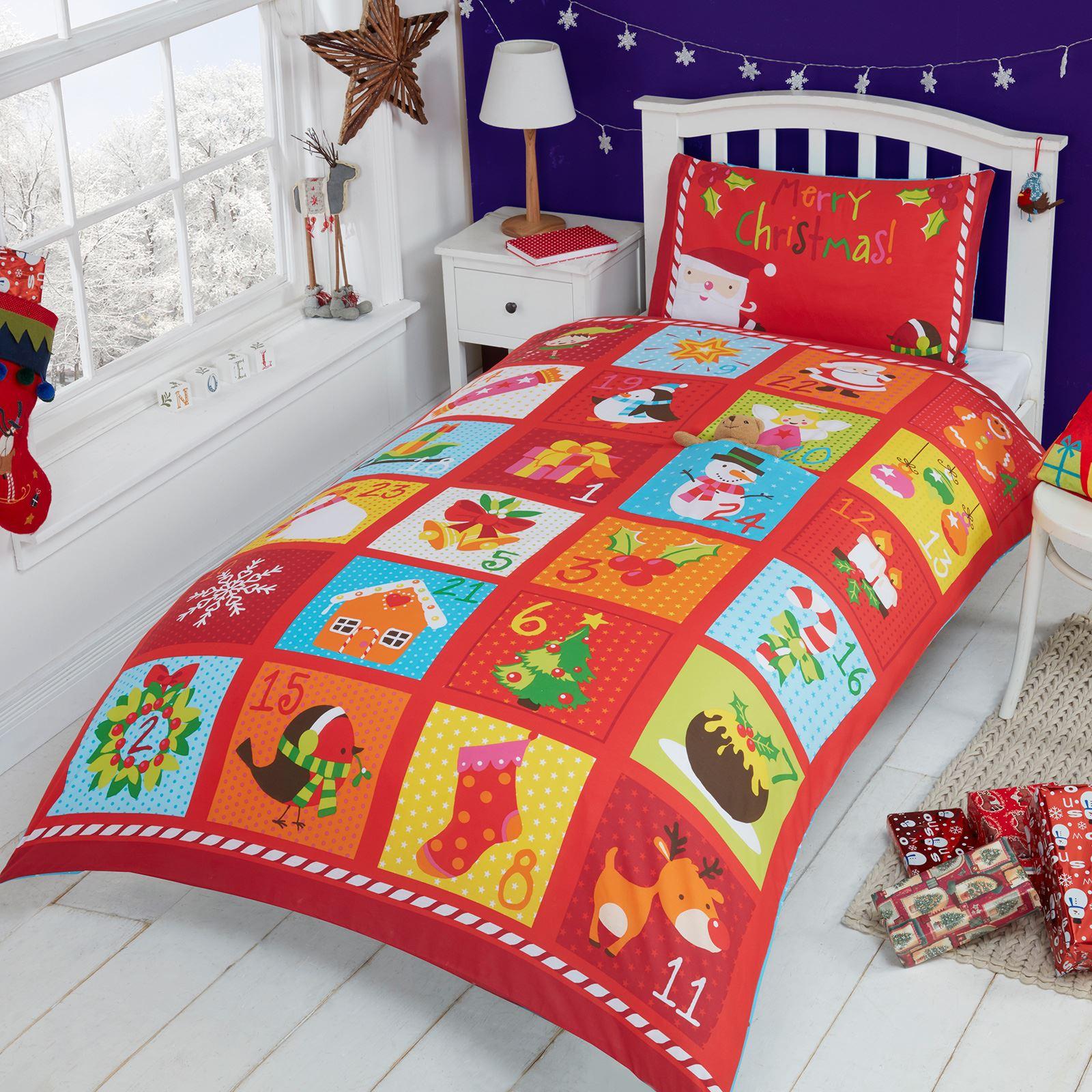 no l housse de couette ensembles bonhomme neige p re renne emoji literie ebay. Black Bedroom Furniture Sets. Home Design Ideas