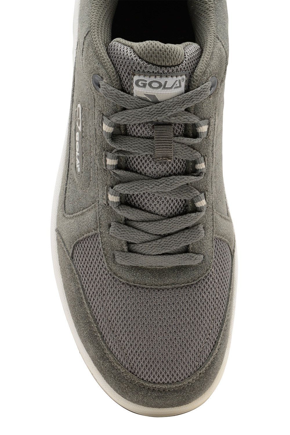 thumbnail 7 - Mens Gola Belmont Wide EE Fit Suede Sports Shoes Lace Up Non-Mark Sole Trainers