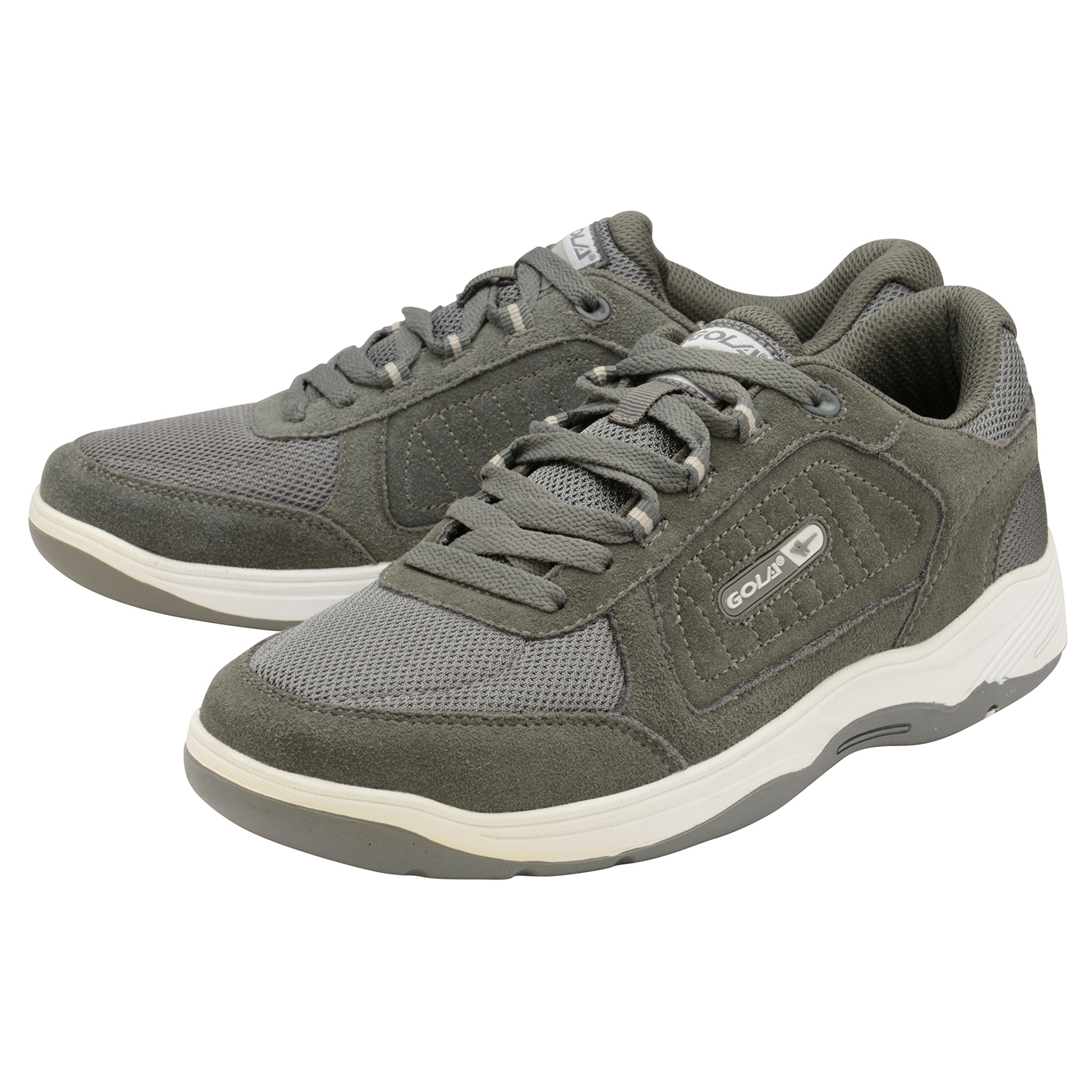 thumbnail 8 - Mens Gola Belmont Wide EE Fit Suede Sports Shoes Lace Up Non-Mark Sole Trainers
