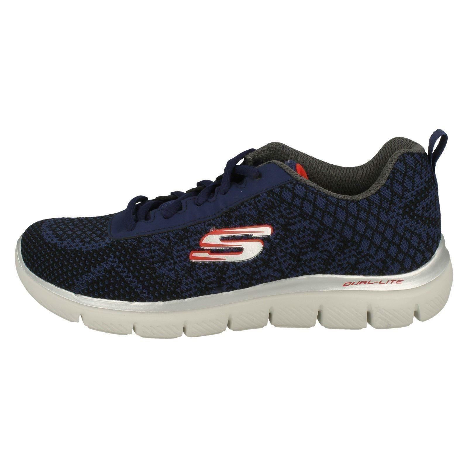 Boys Skechers Lace Up Trainers Golden