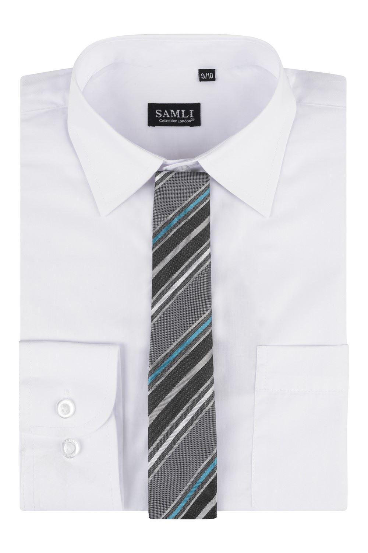 gar ons chemise manches longues ensemble cravate habill enfants bal mariage ebay. Black Bedroom Furniture Sets. Home Design Ideas