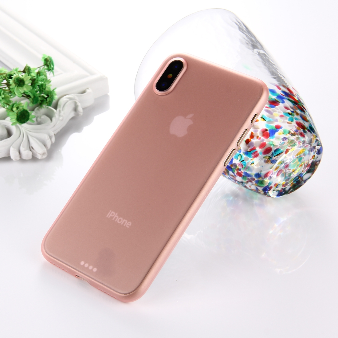 coque ultra fine iphone xs rose
