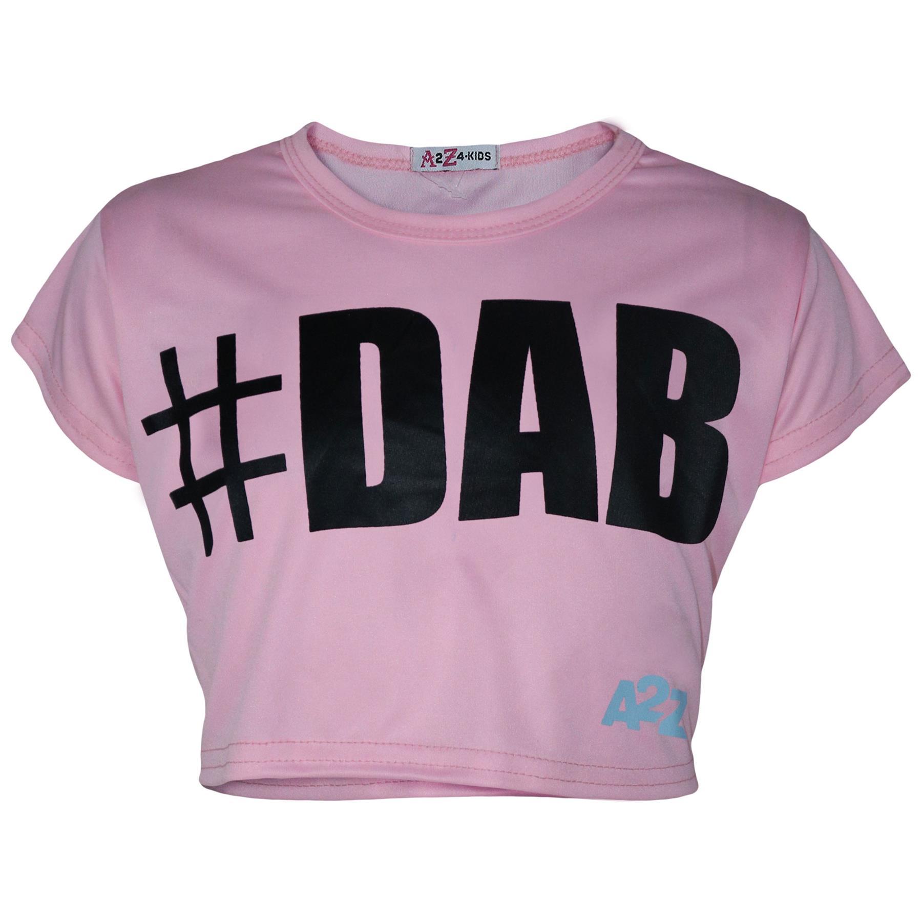 Kinder Mädchen Bauchfreies Top # DAB Trendy Modisch Seide Mode T-Shirt /& Rock