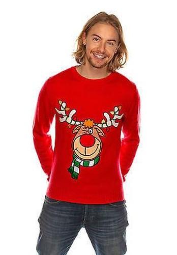 donna uomo Maglione natalizio Natale NOVITà LAVORATO A ...