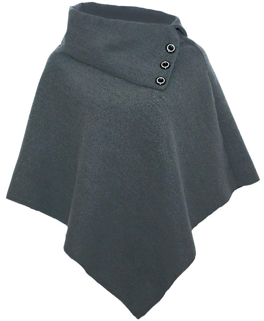da-donna-in-lana-poncho-CONTRASTO-dettaglio-bottone-donna-asimmetrico-MANTELLO