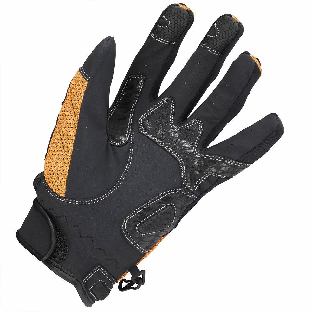 Spada-Mx-Air-Cuir-amp-Textile-Gants-Moto-Noir-Orange-Touring-Blinde miniature 11