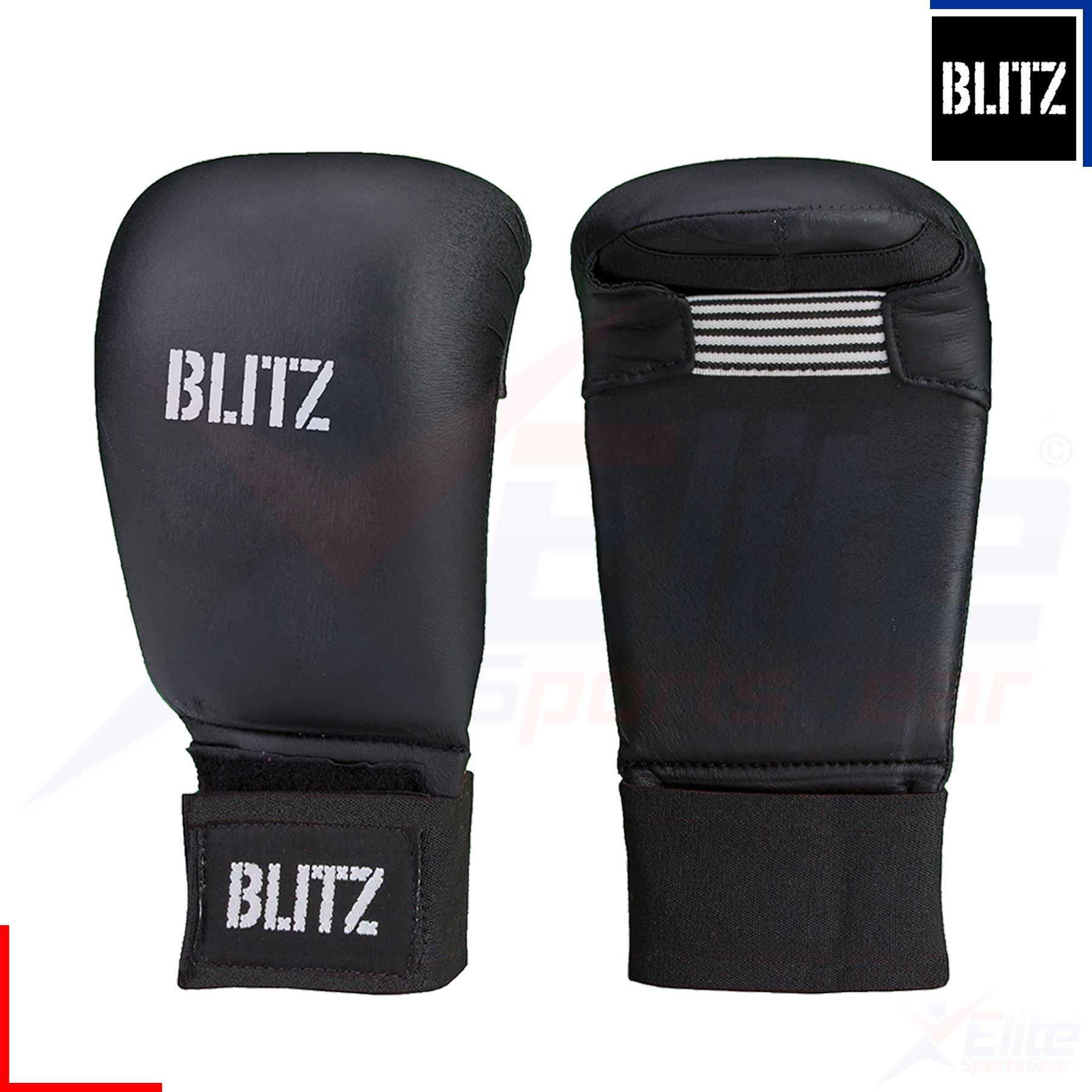 BLITZ PU Elite Elite Elite Mitaines sans pouce arts martiaux karaté entraînement Gants XS, S 2628c4