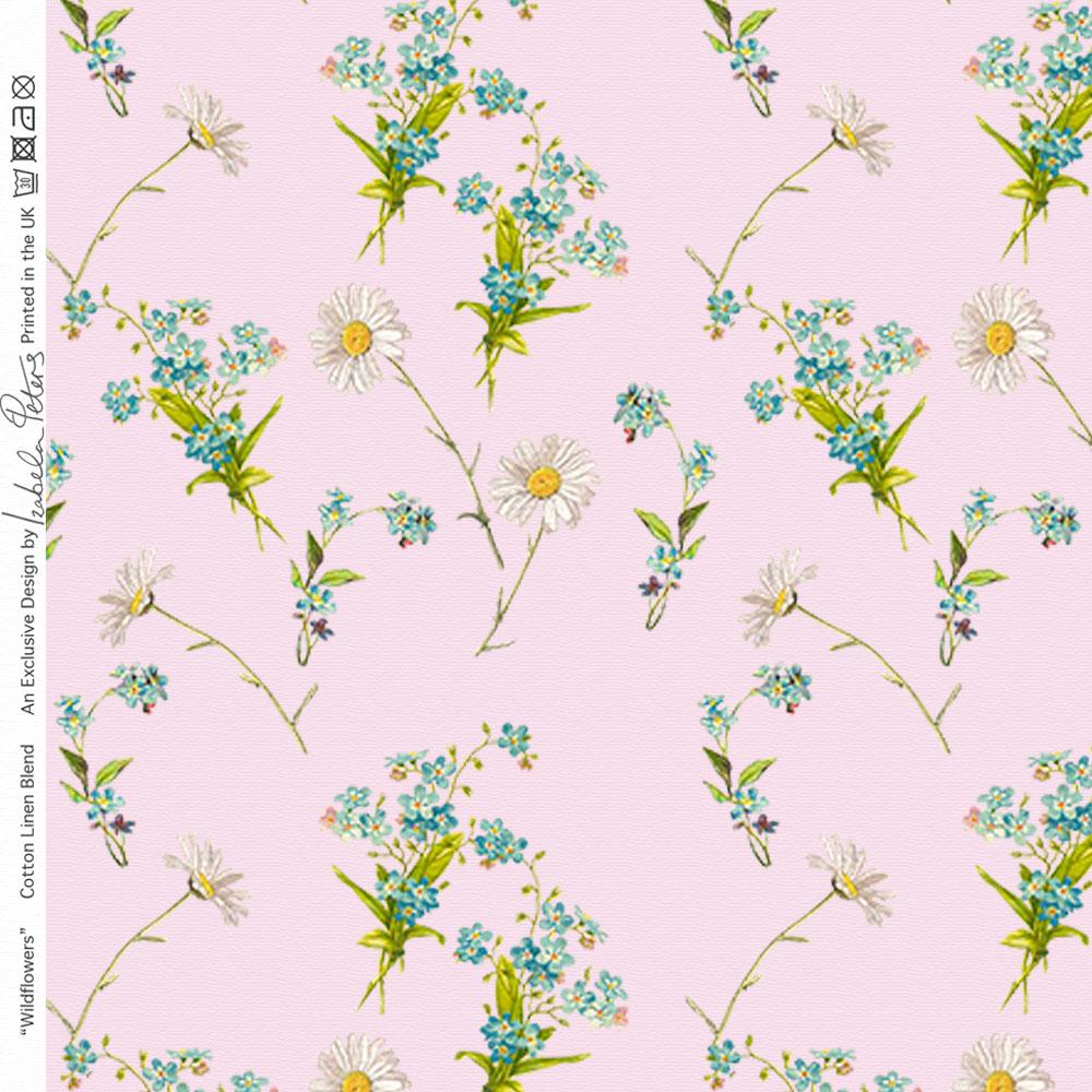 designer polster vorhang n hen blumen stoff wildblumen baumwolle linien meter ebay. Black Bedroom Furniture Sets. Home Design Ideas