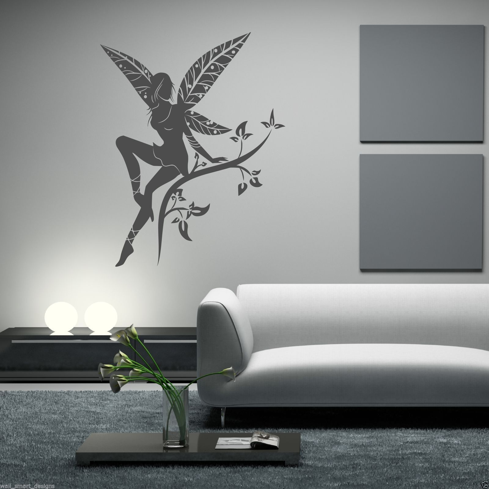 WILD FLOWER FAIRY PLANT TREE WINGS WALL STICKERS  Part 36