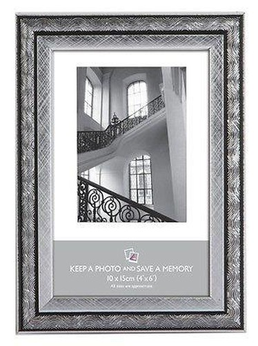 Silver Black Art Nouveau Photo Picture Frame 6x4 5x7 8x6 10x8 A4