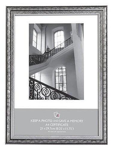 PLATA Y NEGRO ART NOUVEAU Marco para fotos 6x4 5x7 8x6 10x8 A4 ...