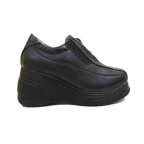 NUEVO Negro Gótico Emo Gótico Plataforma Cremallera Zapatos número 2-7