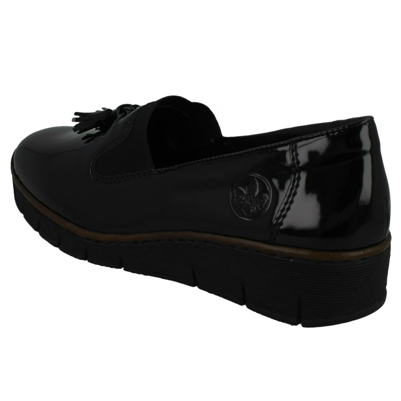 Ladies Rieker Ruffle Detail Heeled Shoes 41762