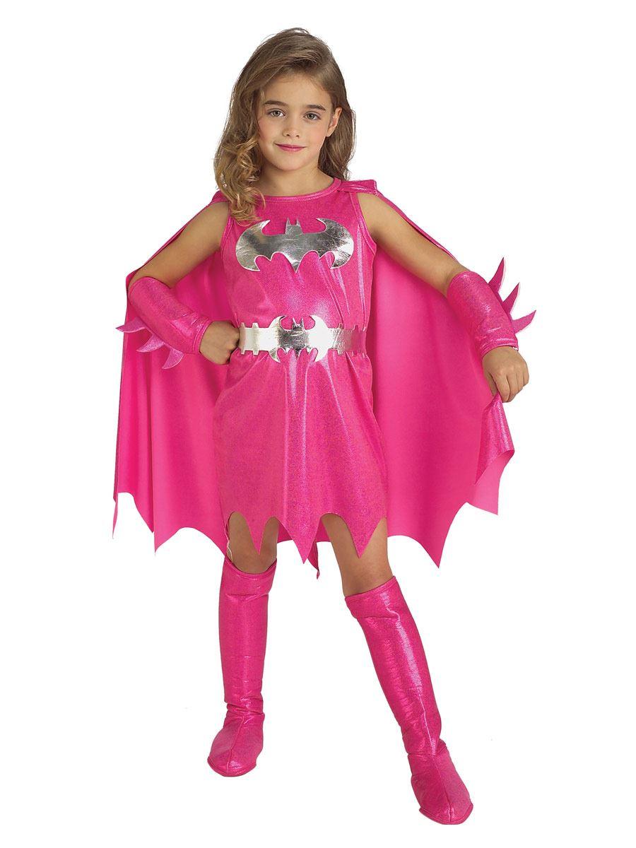 fille de luxe rose batgirl d guisement super h ros enfants costume halloween ebay. Black Bedroom Furniture Sets. Home Design Ideas