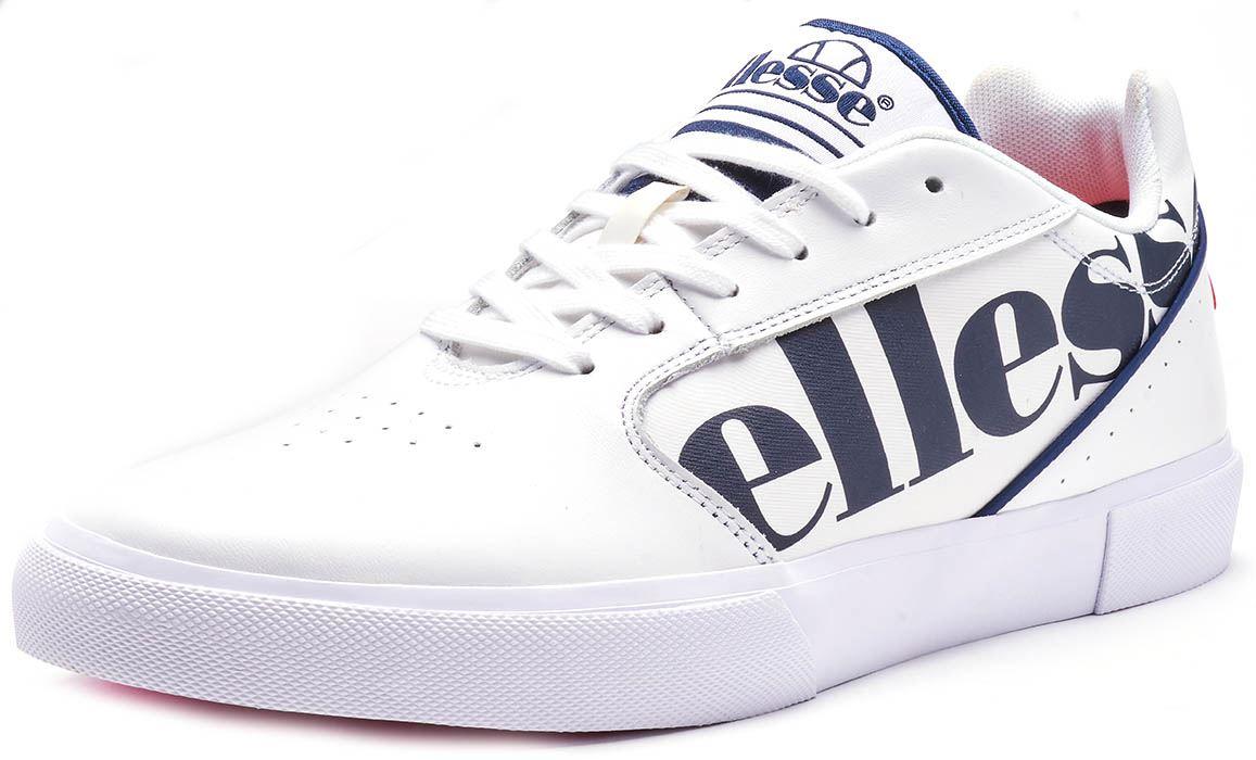 Ellesse Otsuni & Massimo Canvas & Cuero Zapatillas Zapatillas Zapatillas en blancooo y Azul Marino Azul fbc4fb