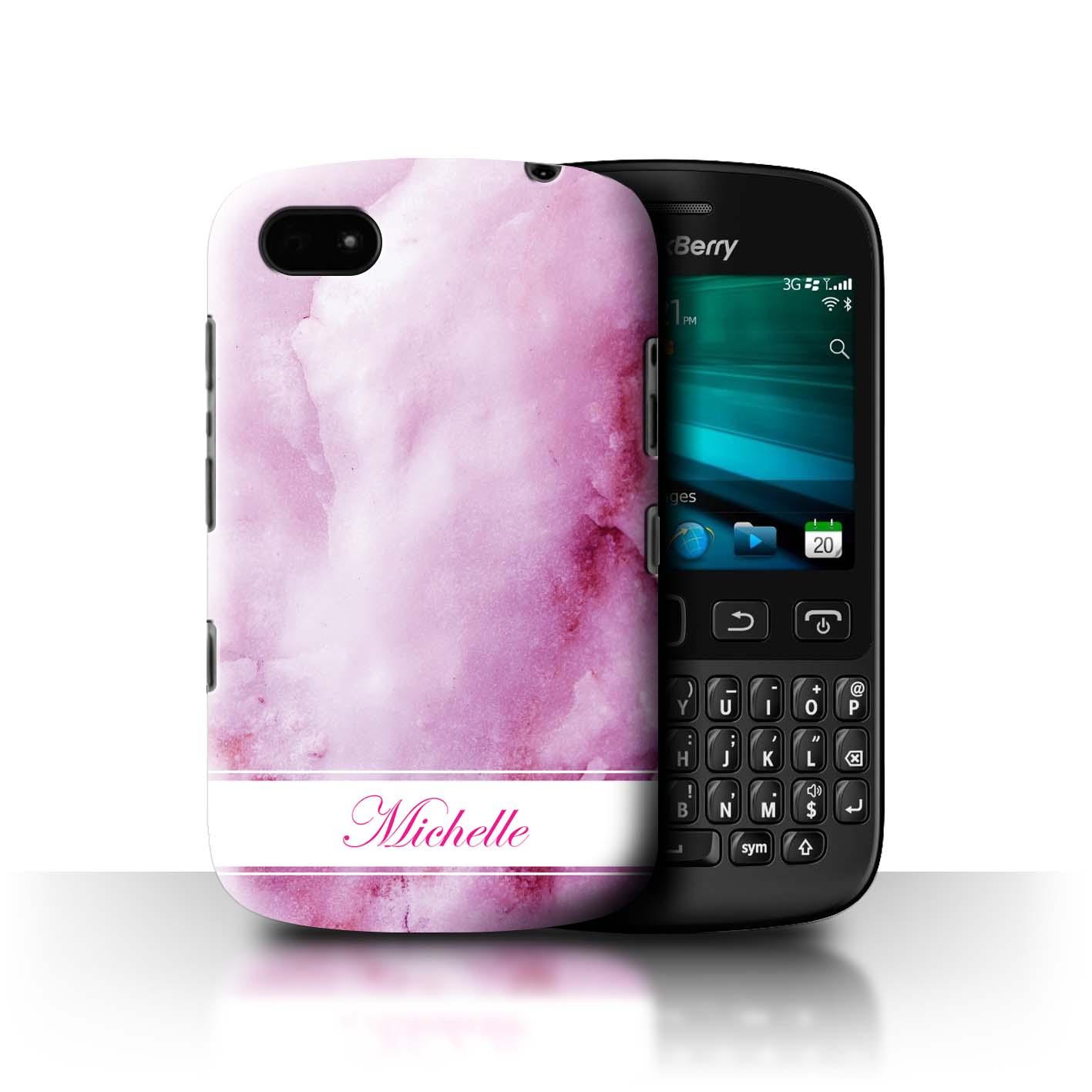 personnalise-Marbre-Coque-etui-pour-Blackberry-TelePhones-Initiale-Texte-Nom